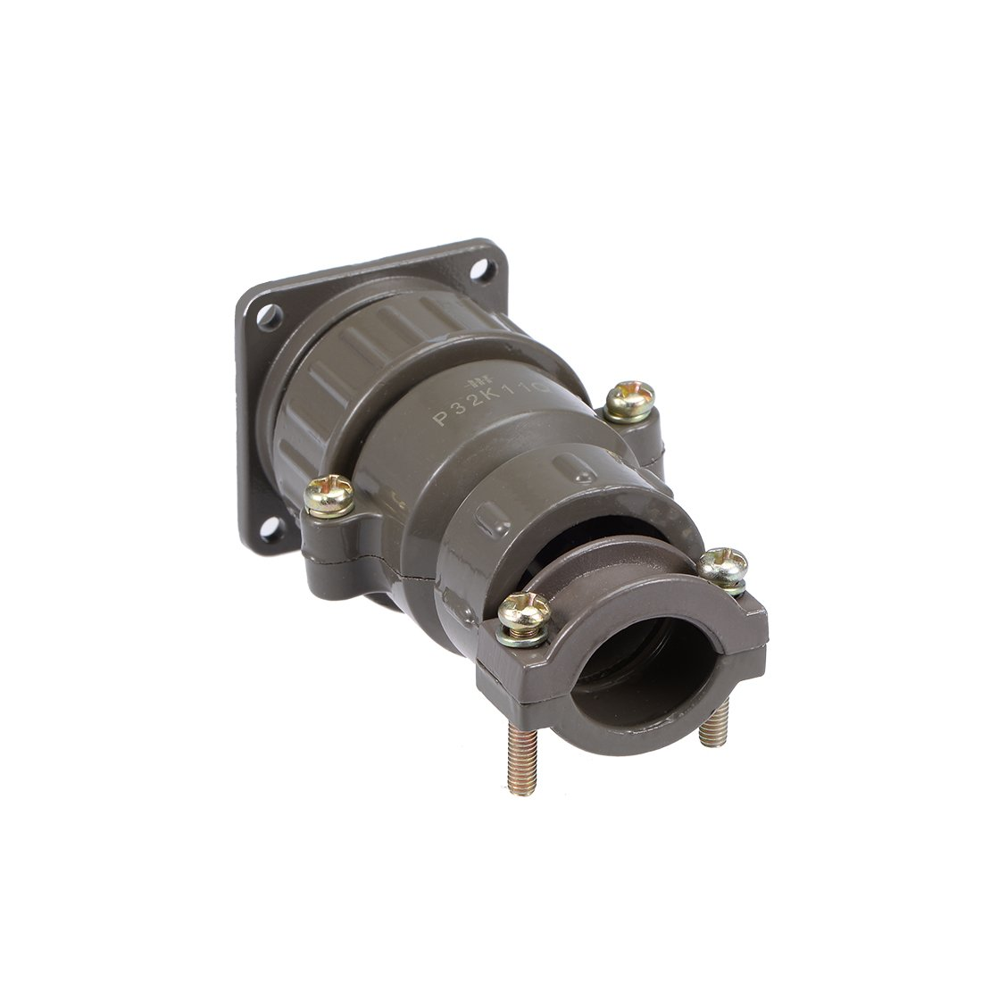 uxcell Aviation Connector 47.5mm 26P 10A 500V P48K6Q Waterproof Male Wire Panel Power Chassis Metal Fittings Connector Aviation Brown