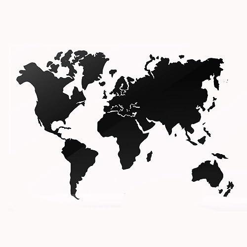 Mapamundi negro decorativo para pared • Mapa del mundo 100x60cm | 160x100cm | 200x120 cm Envío Peninsular Gratis!: Amazon.es: Handmade