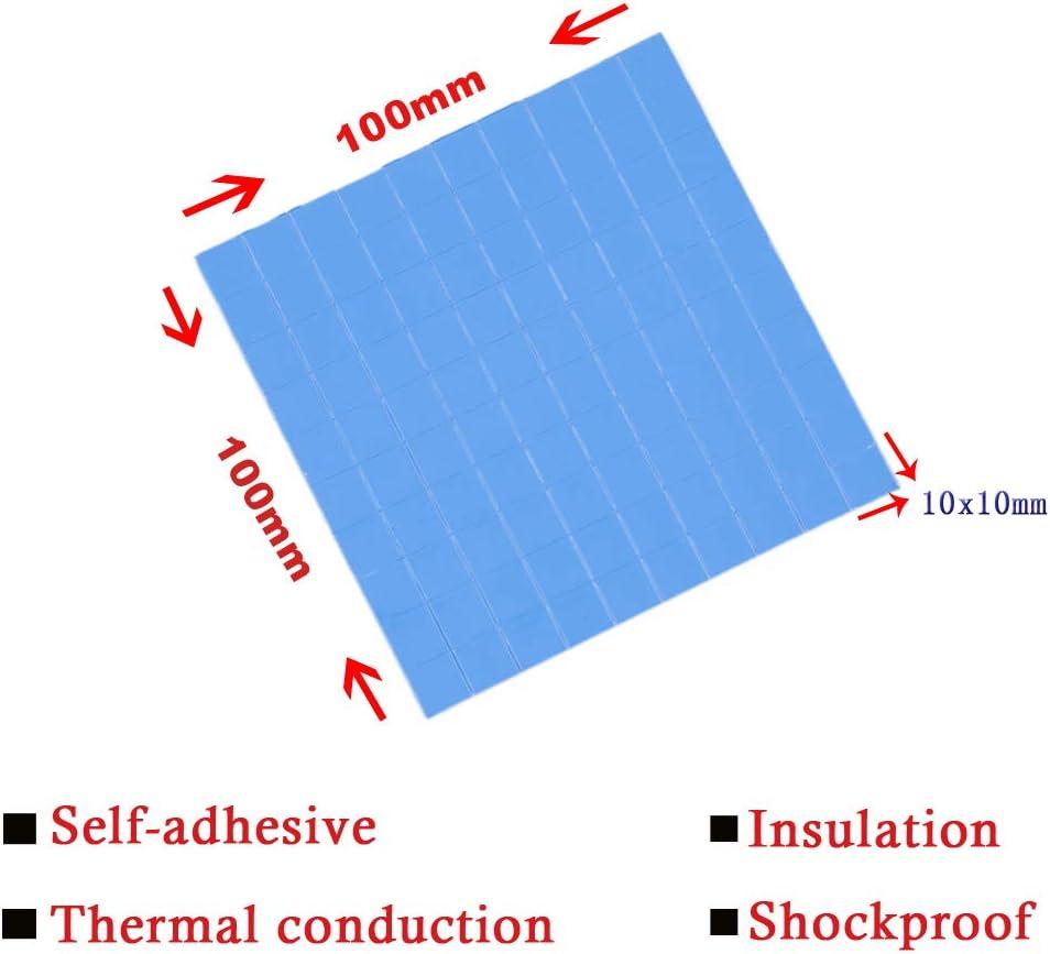 Marame Thermal Pad 1mm 100mm x 100mm x 1mm Soft Thermal Silicone Pad Cooling for CPU GPU VGA IC Heatsink