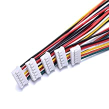 Atoplee 5pcs Micro JST 2.0 PH 6-Pin Connector plug with 300MM Wires Cables