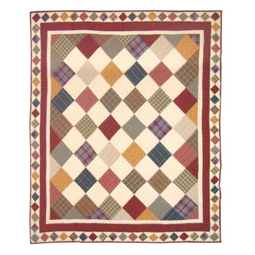 Cabin Wall Hanging - Patch Magic 50-Inch by 60-Inch Rustic Cabin Throw
