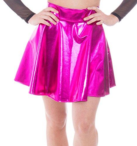 Simplicity Women's Metallic Ballet Dance Flared Skater Skirt Fancy Dress, Rose from Simplicity