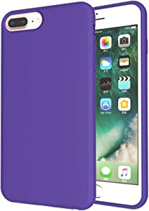 UrSpeedtekLive Slim Series iPhone 7 Plus/8 Plus Case, Liquid Silicone Gel Rubber Shockproof Cover Case with Soft Microfiber Lining Full Body Protection for iPhone 6 Plus/6s Plus/7 Plus/8 Plus, Purple