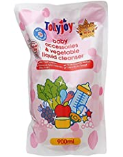 Tollyjoy Antibacterial Baby Accessories and Vegetable Liquid Cleanser Refill, 900ml