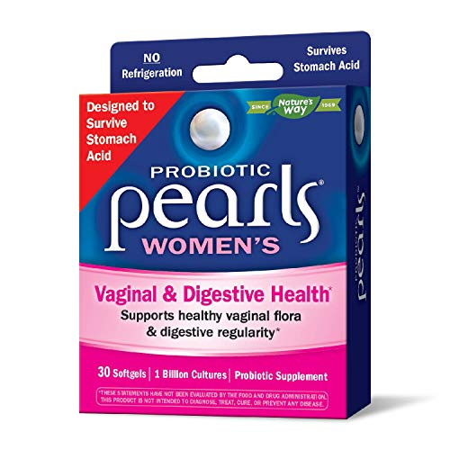 Probiotic Pearls Once Daily Women's Probiotic Supplement, 1 Billion Live Cultures, Survives Stomach Acid, No...