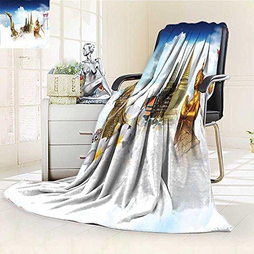 AmaPark Digital Printing Blanket Asian Meditation Icons Elements over Clouds Yoga Yin yang Om Gen Black White Summer Quilt Comforter by AmaPark