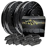 Full Kit Black Hart Drilled Slotted Brake Rotors and Ceramic Pads F-150,Mark LT