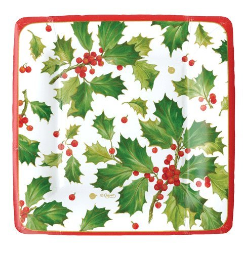 Christmas Paper Plates Dessert Plates Christmas Party Holiday Party Holly Pk 16