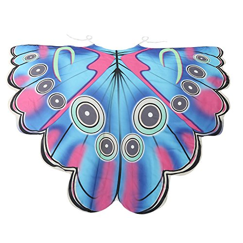 LUCA Butterfly Wing Cape Shawl Adult Women Halloween Costume Accessory Soft Scarf Scarves Wrap Nymph -