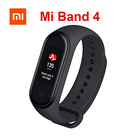 Xiaomi Mi Band 4 Fitness Tracker, New Upgrade Color Display Bluetooth 5.0 Smart Bracelet Heart Rate Monitor 50 Meters Waterproof Activity Tracker with Full Display of Information AI Smart Watch
