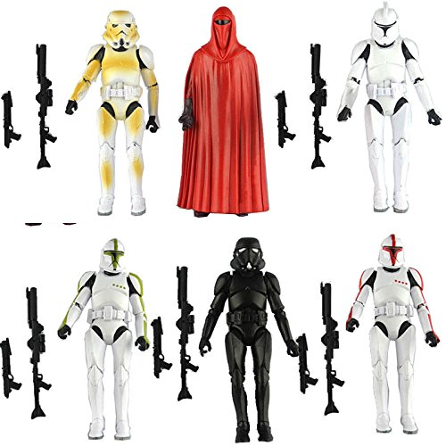 HOT LOT 6 PCS Star Wars Clone Trooper Army Stormtrooper Loose Action Figure Toys (Buy A Stormtrooper Costume)