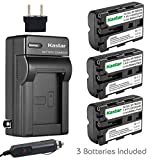 Kastar Battery (3-Pack) and Charger for Sony NP-FM500H and DSLR-A100, A200, A300, A350, A450, A500, A550, A560, A580, A700, A850, A900, Alpha SLT A57, A58, A65, A77, A77M2, A99, A99V, CLM-V55