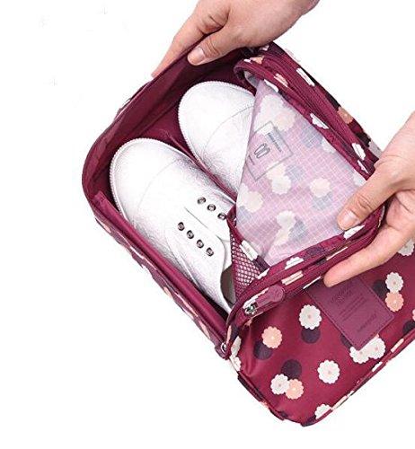 1PC Fashion Travel Portable Shoe Bags Multicolor Storage Organizer Bag for Men Women (Purple) by erioctry (Image #4)