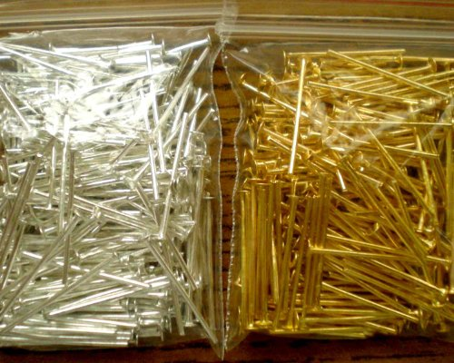 Beading Station 400-Piece Mix Head Pins for Jewelry Making, 3/4-Inch, Silver/Gold (Jewelry Beading Supplies)