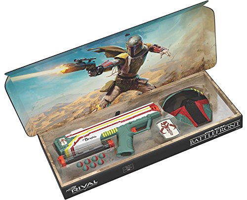 Hasbro Nerf Rival Apollo XV-700 - Star Wars Exclusive Edition Battlefront II Mandalorian Boba Fett Edition Blaster with Face Mask and Patch -