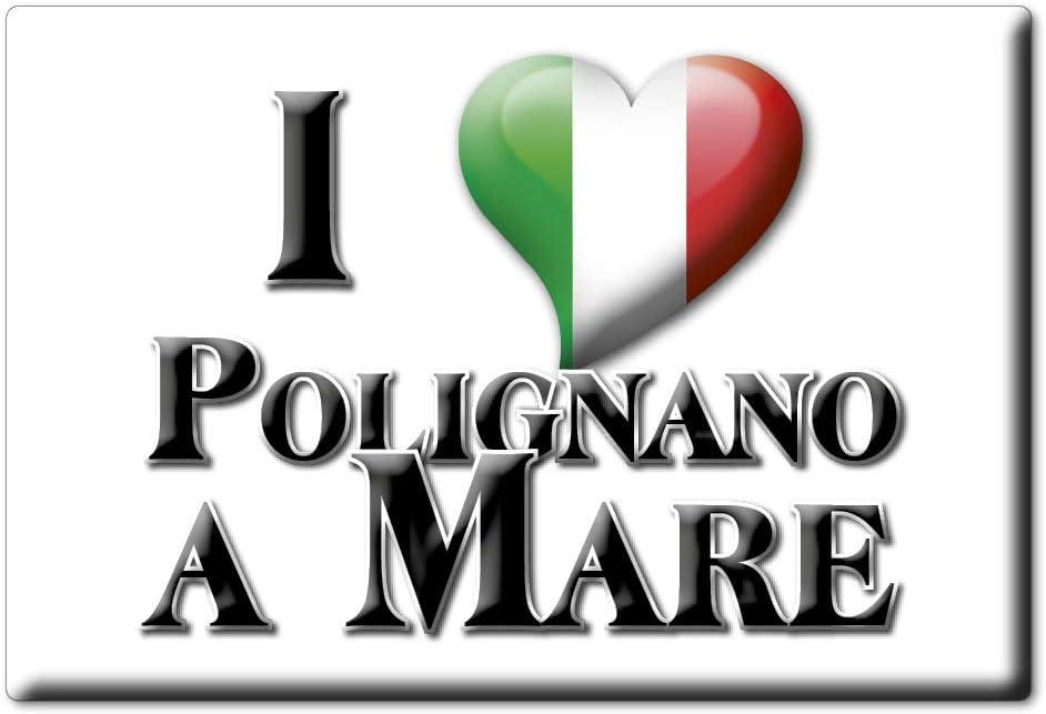 Enjoymagnets POLIGNANO A Mare CALAMITA Magnete Puglia VAR. Black BA Fridge Magnet Souvenir Love