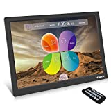 YENOCK Digital Picture Frame, 15.4 Inch 1280 x 800 High Resolution Photo/Music/HD Video Player/Calendar/Alarm Auto On/Off Advertising Player With Remote Control