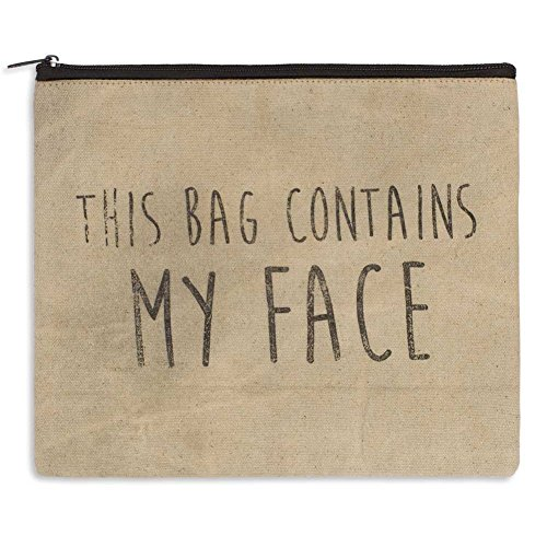 """Rustic """"My Face"""" Travel Toiletry Cosmetic Bag"""