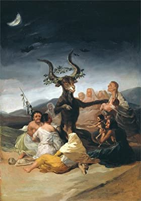 Demonology, Witchcraft, Occult & Magick WITCHES SABBATH. THE GREAT HE-GOAT by Francisco de Goya c1797-98 250gsm A3 Gloss Art Card Reproduction Poster by World of Art