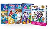 Preschool 8 DVD & 4 Board Book Set by Rock N Learn - Nursery Rhymes, Alphabet, Colors, Shapes, Counting, Tying Shoes, Printing Letters, Spanish Vocabulary, Animals, Imaginative Play and much more