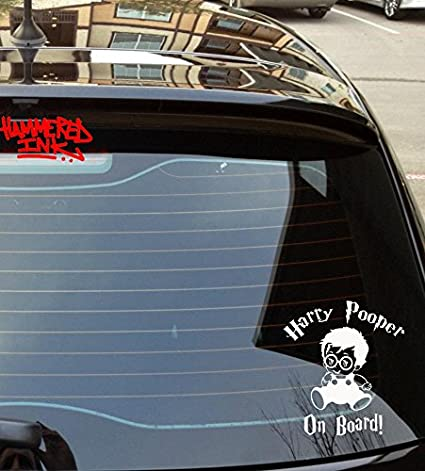 Harry pooper baby on board 2 die cut vinyl car decal wall sticker