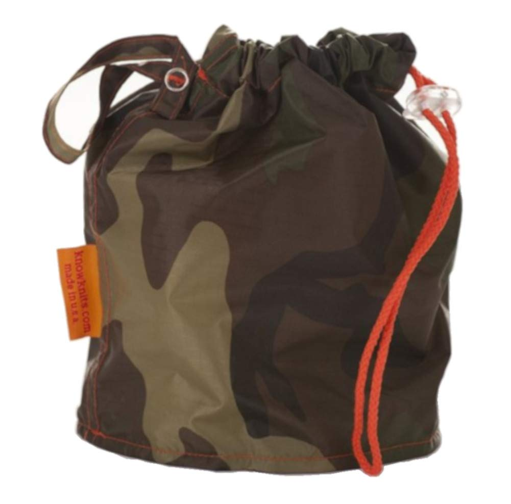 Camouflage Medium GoKnit Pouch Project Bag w/ Loop & Drawstring