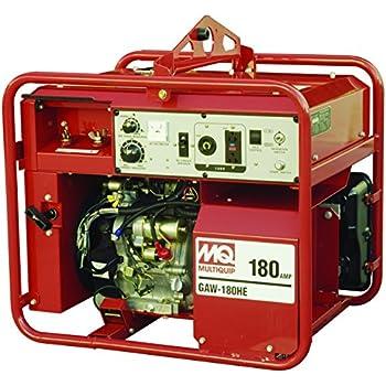 Multiquip GAW180HEA Gasoline Powered Welder/Generator With Honda Motor, 3000  WATT, 50