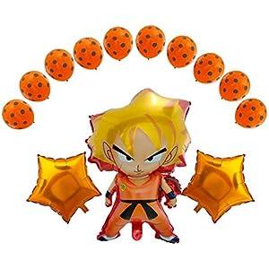 Dragon Ball Z Balloons 13 Pack Birthday Celebration Balloon Set DBZ Super