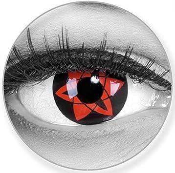 Shar ingan Contacto lente sasukes mangekyu suave sin Cuidado de grosor, pack de 2, Rojo