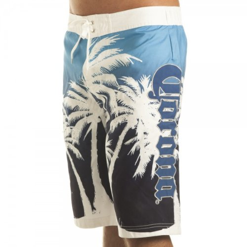 Corona Palm Mens Blue Boardshorts