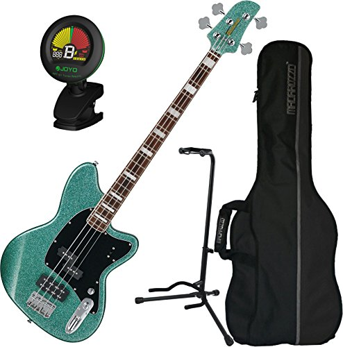 Ibanez TMB310 4-String Turquoise Sparkle Electric Bass w/ Gig Bag and Tuner by Ibanez