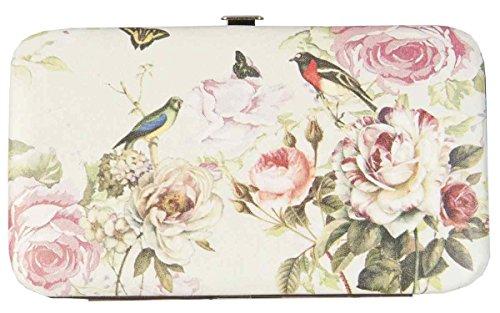 Clayre & Eef fap0092–�?Portamonete Borsa per cosmetici Custodia Portafoglio Portamonete Uccello Farfalla ca. 15x 9cm