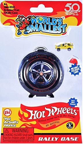 Worlds Smallest Hot Wheels Mini World Complete Collection. Includes Drag Race, Hot Curves & Stunt Action Sets & Classic Rally Case. Collection Includes 5 Exclusive Hot Wheels Cars! by Worlds Smallest (Image #4)