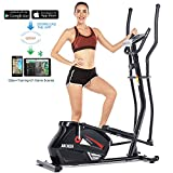 ANCHEER Elliptical Machine Elliptical Trainer Exercise Machine Magnetic Smooth Quiet Driven with LCD Monitor, Pulse and APP Control, Updated Top Elliptical Machine Trainer