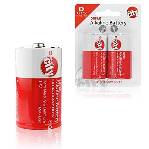 Essential Circuit City D-Cell High Performance Alkaline Batteries (2 Pack) - Yellow Jackets University Building