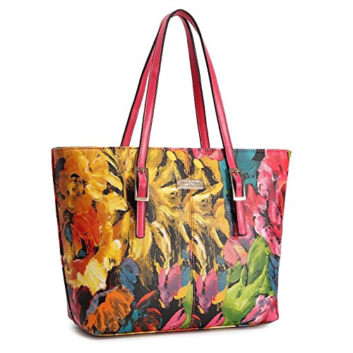 Baghandbags Cosmetic Bailiang Big Bag 2018 New Chinese Style Oil Painting Flower Print Shoulder Bag National Wind Shoulder Bag Middle-aged Female Wild Color
