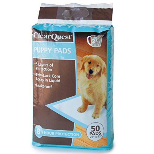 ClearQuest-Puppy-Pads-50-Count-Bags-Hold-25-Cups-Scented-to-Attract-Puppies