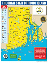 Gallopade Publishing Group Rhode Island State Map for Students - Pack of 30 (9780635106667)