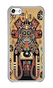 Apple Iphone 5C Case,Muyushiyuan Adorable Mayas Spirit Boom 2012 Hard Case Protective Shell Cell Phone Cover For Apple Iphone 5C - PC Transparent