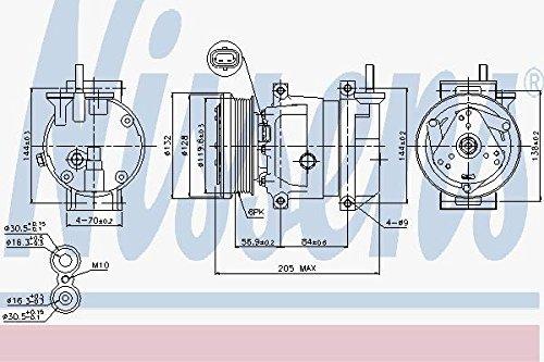 Nissens 89221 Compressor, air conditioning