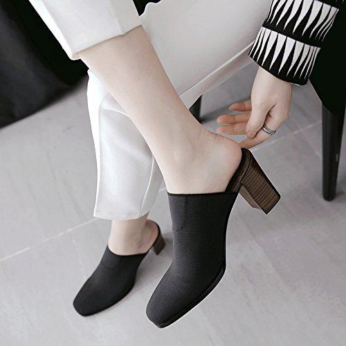 drop pantofole stretch Tessuto il Nero Qingchunhuangtang drag tacco and alto raffreddare nAa7qz6x