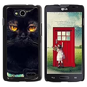 Vortex Accessory Hard Protective Case Skin Cover For Lg Optimus L90 / D415 - Black Cat Feline Orange Bombay Chartreux