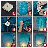 (Price/10 PCS)Blue Sky Flying Lanterns