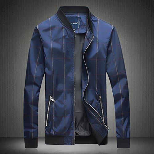 chaqueta la una la Hombres otoño del chaqueta de código Azul versión el cuadrícula primavera la hombre de coreana del personalidad Serie en hombre L la y AffIUwqEx