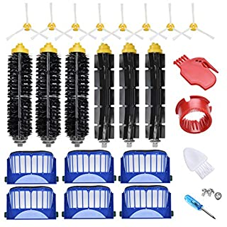 JoyBros 22-Pack Replacement Parts Compatible for iRobot Roomba Accessories 600 Series:690 692 670 671 680 650 677 614 595 585 Filter Side Roller Brush Vacuum Cleaner Replenishment Kit