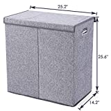 SUPERJARE Double Laundry Hamper/Sorter with