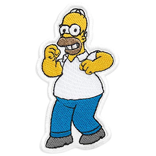 (Homer Simpson Cartoon Comics Embroidered Patch Iron On (2.2