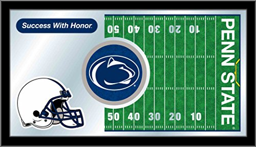 Holland Bar Stool Co. Penn State Nittany Lions HBS Football Framed Hanging Glass Wall Mirror (Penn State Wall Mirror)