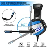 PS4 Gaming Headset TUSBIKO Noise Cancelling Gaming