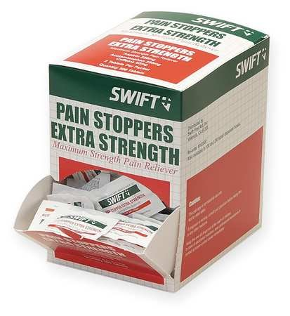 Swift First Aid 163500 Pain Stoppers Extra Strength (Pack of 250 Pkg/2) ()